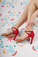 Suede High Heeled Sandals  image