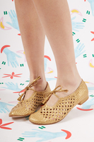 Woven Leather Flats  image