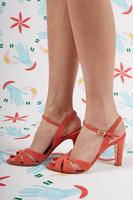 Papaya Suede Sandals  image