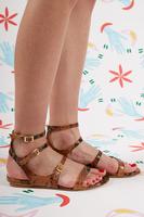 Snakeskin Print Leather Sandals  image
