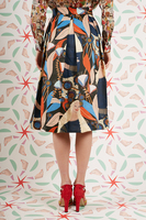 Eclectic printed skirt  image