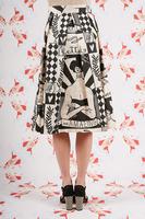 Amazing tattooed girl printed skirt  image