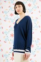 Navy oversized sweater  image