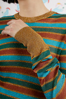 Acqua and Gold Sheer striped sweater  image