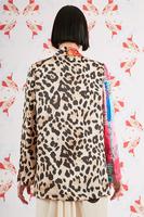Mixed print unstructured blazer  image