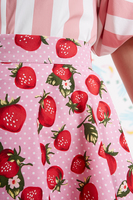 Strawberry print skirt  image