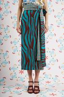 Acqua Geometric zebra wrap skirt  image