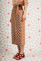 Geometric floral wrap skirt  image