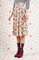 Floral print midi skirt  image