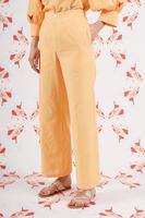 Yellow gingham pants  image