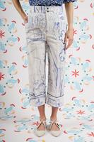 Sketch printed cropped pants  image