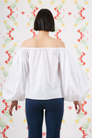 White off the shoulder blouse  image