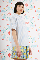 Blouse with fine stripes  image