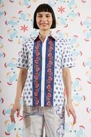 Abstract floral shirt  image