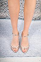 Silver metallic sandals  image