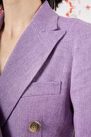 Violet linen double breasted blazer image