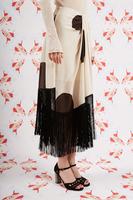 Polka dot fringe skirt image