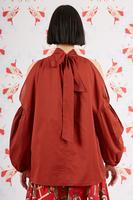 Voluminous blouse with shoulder cut outs  image