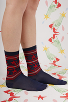 Navy, Red and Silver Stars and Stripes Socks  image