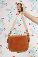 Suede and Leather Crossbody Bag  image