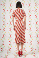 Orange and red geometric print shirtdress  image