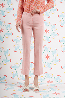 Raspberry striped cropped pants  image
