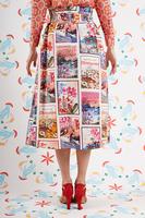 Postcard print skirt  image