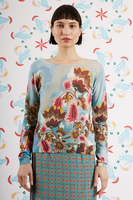 Stylised floral printed sweater  image