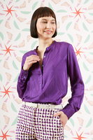 Check and grid Purple shirt  image
