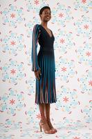 Navy striped knit dress  image