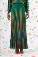 Emerald striped knit skirt  image