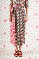 Raspberry Geometric zebra wrap skirt  image