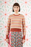 Brick and Rose Sheer striped sweater  image