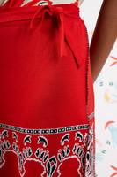 Red Bandana knit wrap skirt  image
