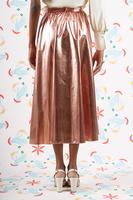 Full metallic pink skirt  image