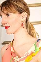 Red Cardinal earrings  image