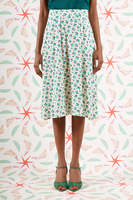 Cherry print flared skirt  image