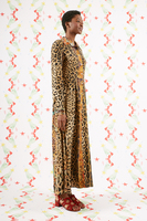 Eclectic leopard print shirtdress  image
