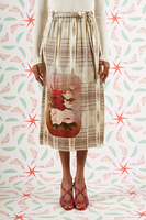 Graphic patterned floral skirt  image