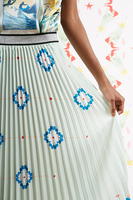 Floral print pleated skirt  image