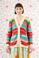 Rainbow striped cardigan  image