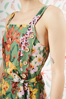 Floral print pinafore dress  image
