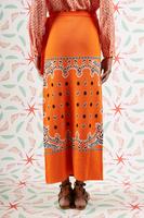 Orange bandana knit wrap skirt  image