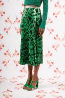 Animal print pleated skirt  image