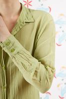 Pistachio green voile shirt  image