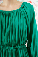 Emerald green voile dress  image