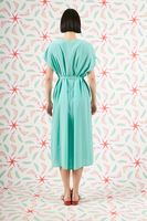 Aqua silk dress  image
