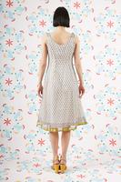 Micro floral print sleeveless dress  image