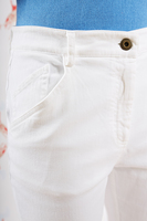 White fitted jeans image