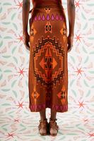 Geometric knit wrap skirt  image